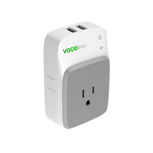 SMART WIFI OUTLET PLUG NIGHT LIGHT + 2 USB CHARGING PORTS - WHITE