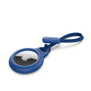 SECURE HOLDER W/STRAP - BLUE FOR AIRTAG