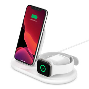 3-IN-1 WIRELESS CHARGER - WHITE FOR IPHONE / WATCH / AIRPODS