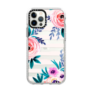 IMPACT FROST CASE - VICTORIA FLOWER SOFT BLUSHING FOR IPHONE 12 / 12 PRO