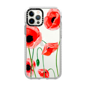 IMPACT FROST CASE - RED POPPIES FOR IPHONE 12 / 12 PRO