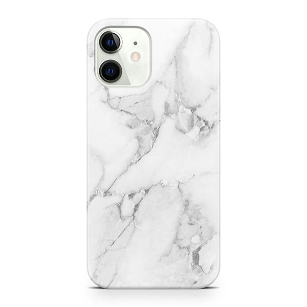 MARBLE CASE - WHITE FOR IPHONE 12 MINI