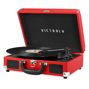 BLUETOOTH STEREO TURNTABLE - RED