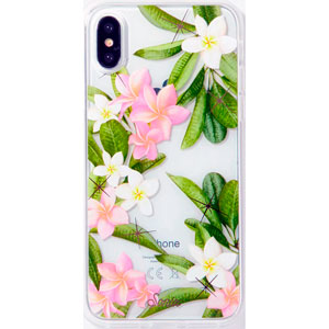 PLUMERIA CASE - CLEAR FOR IPHONE XS