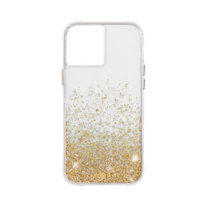 TWINKLE OMBRE W/MICROPEL CASE - GOLD FOR IPHONE 12 PRO MAX