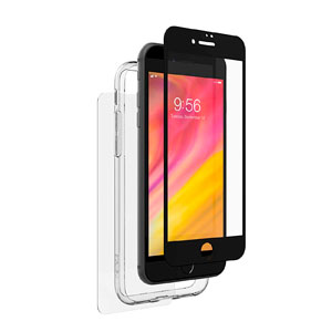 INVISIBLE SHIELD GLASS+ LUXE/HYBRID 360 W/BUMPER - BLACK FOR IPHONE 8